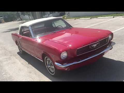 Video of Classic '66 Ford Mustang located in POMPANO BEACH Florida - $28,500.00 - QB3J