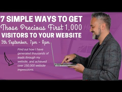 Live Website Webinar with Warren Knight | Get More Visitors To Your Website!
