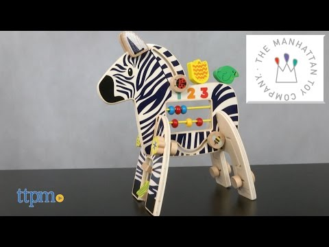 Safari Zebra Activity Toy from The Manhattan Toy Company