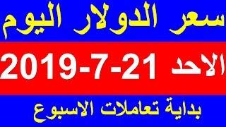 سعر الدولار اليوم الاحد 21-7-2019 في السوق السوداء والبنوك المصرية بداية تعاملات الاسبوع !