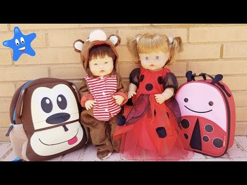 Ani y Ona son El mono Jorge el Curioso y Ladybug en el colegio