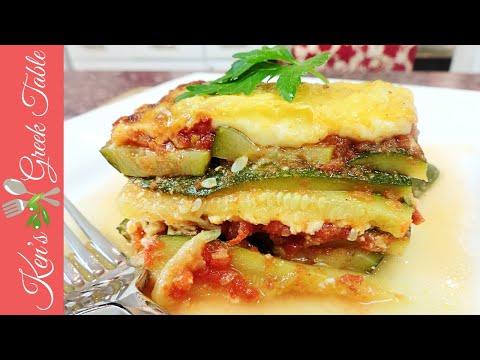 Greek Zucchini and Feta Cheese Bake | Easy Vegetarian Recipe