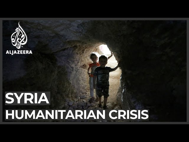 Syrians fleeing attacks in Idlib find shelter in caves