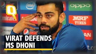 Virat Kohli Lashes Out at MS Dhoni's Critics | The Quint