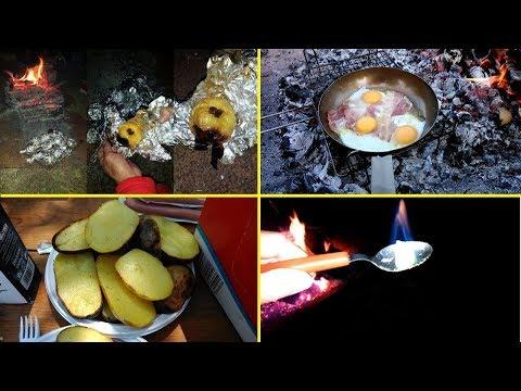 Mele e patate al cartoccio, uova e pancetta, falò, bivacco - Oratorio Don Bosco, ultimo atto