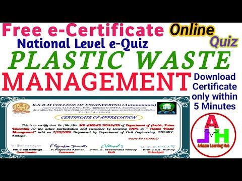 Online Quiz on Plastic Waste Management   Online Quiz   Free Quiz ...