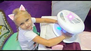 Цветной маникюр для детей !  Pretend play beauty salon for kids