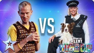 Jules & Matisse vs Robert White | Britain's Got Talent World Cup 2018 - Video Youtube