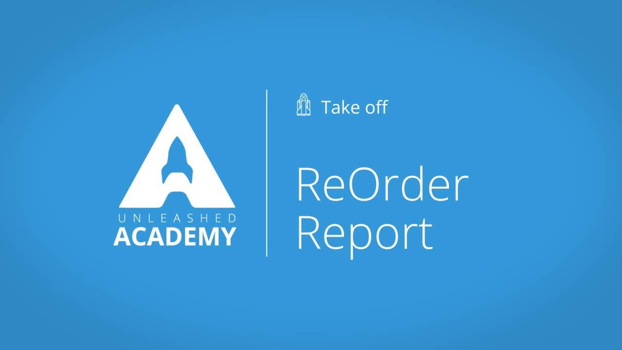 ReOrder Report YouTube thumbnail image