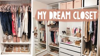 BUILDING MY CUSTOM IKEA PAX CLOSET - Organize With Me | Sarah Brithinee