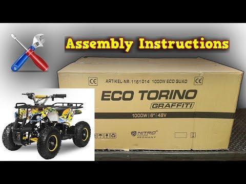 Torino Mini Quad 1000W 48V Unboxing - Full Assembly Instructions