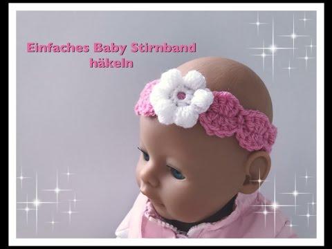 EINFACHES Baby/ Kinder Stirnband häkeln super für Anfänger geeignet