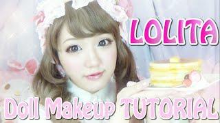 ロリィタメイク/LOLITA Doll Makeup TUTORIAL By Japanese Kawaii Fashion
