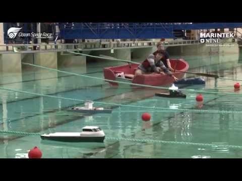 Video fra Ocean Space Race 2015. Over 500 elever fra videregående skole deltar i skipsdesignkonkurransen, som arrangeres årlig i havlaboratoriet ved MARINTEK.