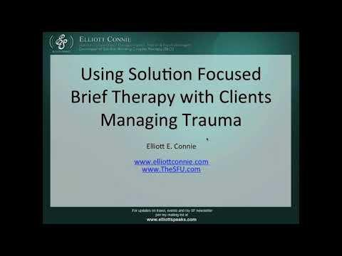 Webinar: Using Solution Focused Brief Therapy to Treat Trauma ...