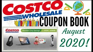 🍎AUGUST 2020 COSTCO Coupon Book!!! 🔥MEMBER ONLY SAVINGS DEALS 💰Preview 2020 ● 8/5/20 - 8/30/20