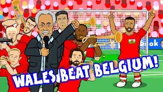 Wales vs Belgium by TOM JONES! (3-1 Euro 2016 Quarter Final)(Robson-Kanu Cruyff goal Vokes Williams)