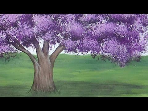 Acrylic Painting Jacaranda Tree Painting