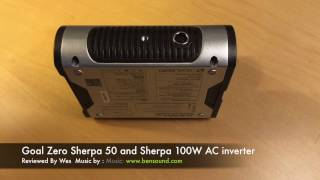 GoalZero Sherpa 50 Battery Pack and Sherpa100W AC Inverter