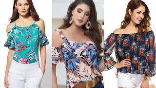 Summer Best Trendy #Chiffon Blouses And Tops/Office And Partywear/#fancy Blouse Designing Ideas