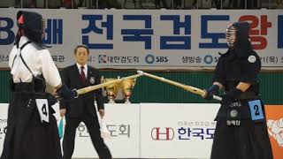 2019 SBS검도왕 대학부결승 장예찬 이지민 동영상