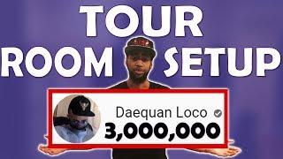 DAEQUAN ROOM TOUR & SETUP REVEAL | THANK YOU FOR 3,000,000 SUBSCRIBERS!!!