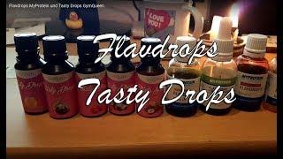 Flavdrops MyProtein und Tasty Drops GymQueen