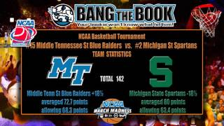 Michigan State vs Middle Tennessee NCAA Tournament Pick, Odds & Prediction
