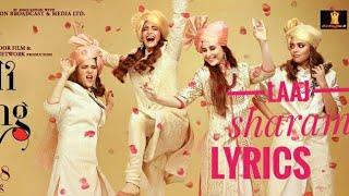 Laaj sharam song lyrics   Veere Di Wedding   - YouTube