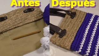 Como reciclar un viejo bolso con trapillo