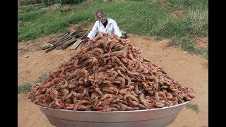 Huge PRAWN MASALA Prepared by My DADDY ARUMUGAM / Village food factory