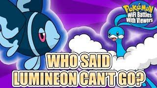 Lumineon  - (Pokémon) - WHO SAID LUMINEON CAN'T GO?   Pokémon WiFi Battles With Viewers Highlight