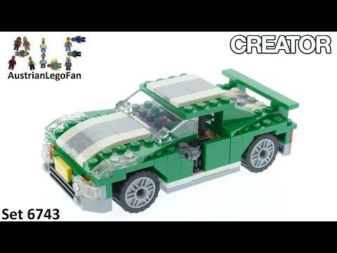 Vidéo LEGO Creator 6743 : Le bolide vert