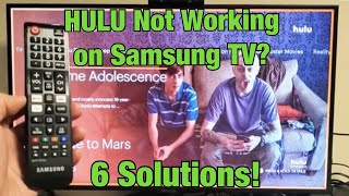 HULU Not Working on Samsung TV? FINALLY FIXED! (6 Solutions)
