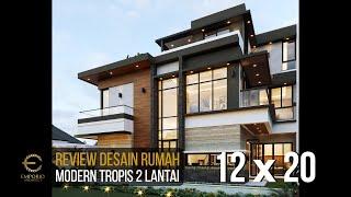 Video Desain Rumah Modern 2 Lantai Bapak Putra di  BSD, Tangerang Selatan, Banten