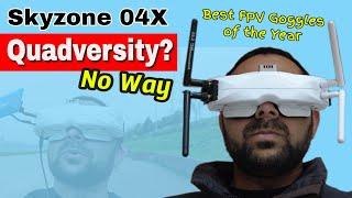 Skyzone SKY04X OLED 5.8Ghz FPV Video Goggles DVR Head Tracker Steadyview Receiver