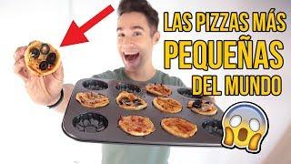 Cómo hacer LAS PIZZAS MÁS PEQUEÑAS del MUNDO en 5 Minutos - Experimentando en la cocina