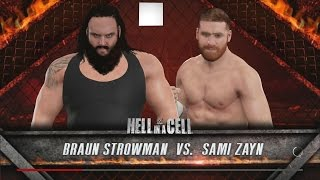 WWE 2K17: Hell In A Cell 2016 Predictions - Braun Strowman vs Sami Zayn