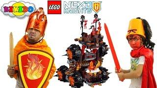 Лего Нексо Найтс 70321. Роковое наступление генерала Магмара. Как  папа попал в Найтонию. Кикидо