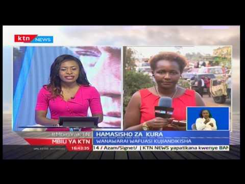 Rais Uhuru Kenyatta aingia Nyeri kuhamasisha wafuasi wake kujiandikisha kupiga kura