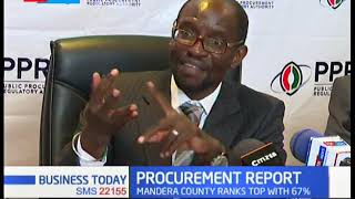 PPRA unveils county compliance report, Mandera County ranks top with 67%