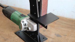 How To Make A Angle Grinder Belt Sander || Angle Grinder Attachment