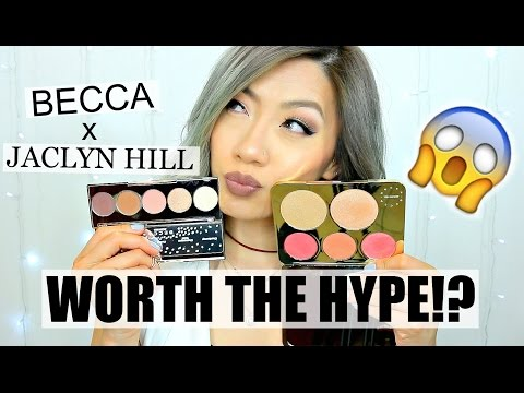 New! BECCA x JACLYN HILL -Champagne Collection Face & Eye Palette | Swatches+First Impression