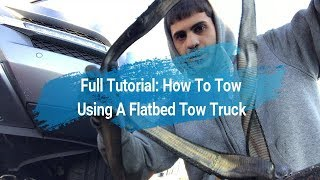 How To Tow Using A Flatbed(Full Tutorial: Step By Step)