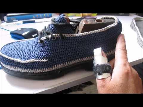Tejido para zapato caballero en crochet  7b360dfbfd6