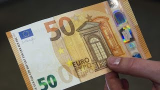 HOW MONEY IS MADE   50 EURO BANKNOTE HSW115