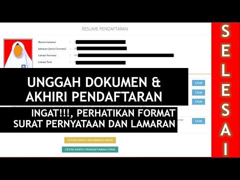 Unggah Dokumen dan Akhiri Pendaftaran, Daftar CPNS Part #5 (Selesai)
