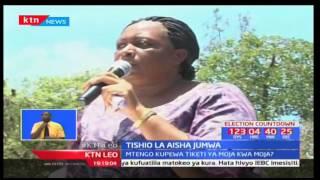 Mwakilishi wa wanawake Kaunti ya Kilifi  Aisha Jumwa ametishia kukihama chama cha ODM