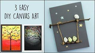 3 Easy DIY Canvas Art |  Home Decor