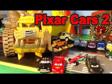 Disney Pixar Cars 2 World Grand Prix Race , Screaming Banshee Saves The Day, With Lightning McQueen